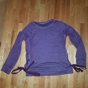 Purple tie side top